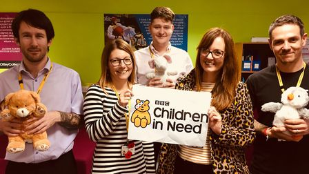Staff from the Otley student services team are backing this year's Children in Need campaign Picture