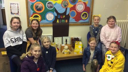 Pupils in Orford have been selling Pudsey merchandise Picture: GEMMA CANNON