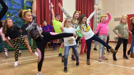Students at Heath Primary have been involved in a Danceathon Picture: DANIEL INGLEBY