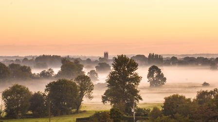 Suffolk could see misty skies this evening. Picture: FRANCES CRICKMORE