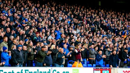 Ipswich Town fans watch the recent 1-1 draw with Preston at Portman Road. Photo: Steve Waller