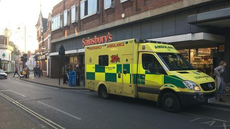 The incident happened by the Sainsbury's store on Upper Brook Street Picture: ARCHANT