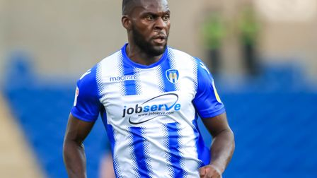 Frank Nouble, went closest to scoring for Colchester Unitefd in the first half againsat his former c