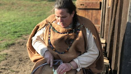 West Stow Friends reenactment of Yule Festival at the Saxon Village. Picture: Victoria Pertusa