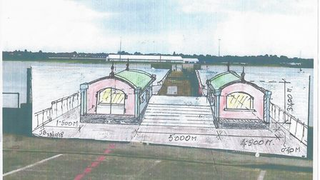 The new design for the Shotley Pier, approved by the majority of stakeholders on Friday Picture: JOH