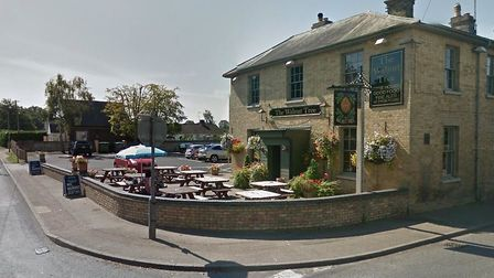 The crash happened near to the Walnut Tree Pub in Worlington Picture: GOOGLE
