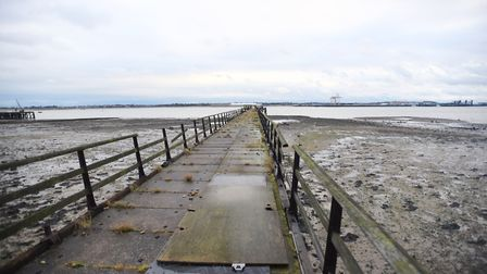 Shotley Pier, currently awaiting a potential development and the topic of debat at the AGM of the Sh