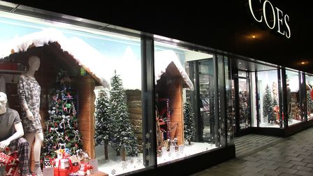 The 2014 Christmas window display at Coes in Norwich Road, Ipswich. Photograph Simon Parker