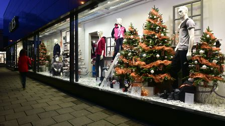 Coes' 2016 Christmas window. Picture: SARAH LUCY BROWN