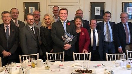 Colchester MP Will Qunice meets with local members of Essex Chambers of Commerce over lunch to discu