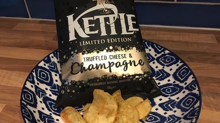 The new Kettle Chips Truffled Cheese and Champagne flavour Picture: Archant