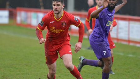 Needham Market's Jamie Griffiths, fully fit again: Picture: BEN POOLEY