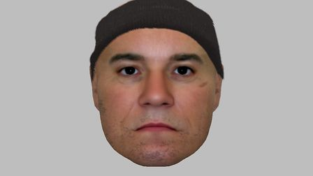 The E-fit released by Suffolk police. Picture: SUFFOLK CONSTABULARY