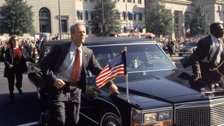 Clint Eastwood and Rene Russo in the political thriller In The Line of Fire. Photo: Columbia Picture