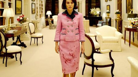Natalie Portman as The First Lady Jackie Kennedy in Jackie which examines the immediate aftermath of