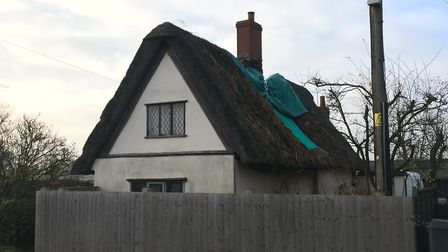 Firefighters managed to save the cottage in Wickhambrook Picture:MARIAM GHAEMI