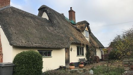 A thatched cottage was damaged by a fire in Wickhambrook Picture: VICTORIA PERTUSA
