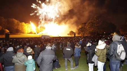 Annual fireworks display in Castle Park Picture: NIGEL BROWN/ARCHANT