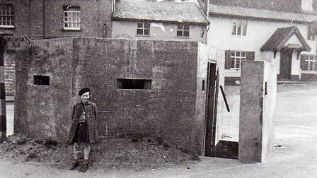 The pillbox in Well Close Square, Framlingham. Picture: Lanman Museum