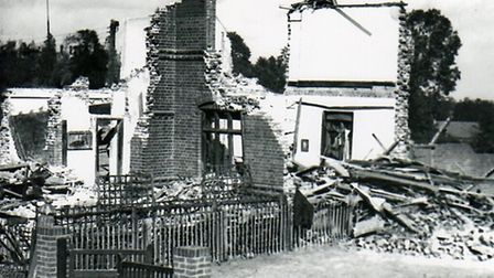 Eight bombs landed in the College Road/New Road area on Sunday, October 6, 1940. The school house at