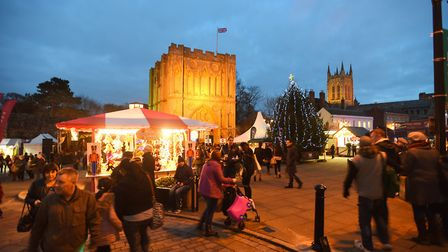 Sponsorship opportunities are being assessed for the Bury St Edmunds Christmas Fayre in the future P