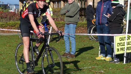 Alison Hogg (Push Sport) takes the Women's win at Grafham Water. Picture: FERGUS MUIR