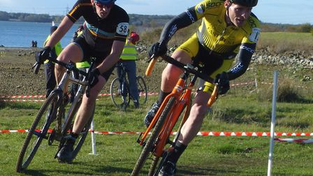 Glenn Davey (right) top local finisher in the Vets 40-49 with Michael Travers (Travers Bikes) at Gra