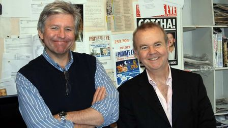 Ian Hislop and Nick Newman pictured in the Private Eye offices Photo Private Eye