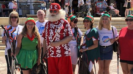 Plastic-Free Felixstowe brough Father Christmas to the coastal town to educate young people about pl