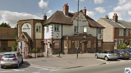 Fire crews are battling a blaze at the former White Lion pub in Newmarket Picture: GOOGLEMAPS
