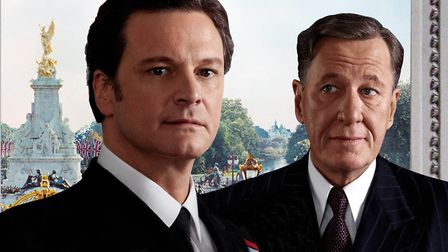 Colin Firth as Bertie and Geoffrey Rush as Lionel Logue in The King's Speech Photo: Working Title
