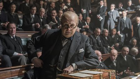 Gary Oldman as Winston Churchill in Darkest Hour, one of the greatest bio-pics ever made. Photo:Work