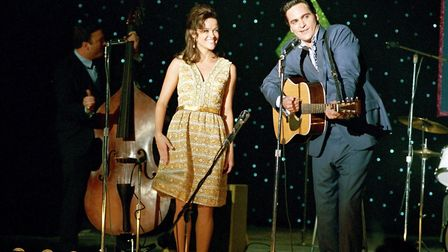 Joaquin Phoenix as Johnny Cash and Reese Witherspoon as June Carter in Walk The Line Photo: 20th Cen