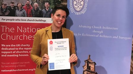 Ipswich architect Pippa Jacob wins an award for her work on St Edmund's Church, Southwold Pictu