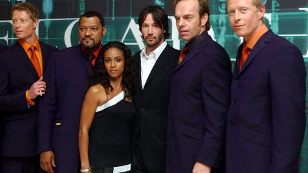 Laurence Fishburne (second from left) is well know for his role in The Matrix Picture: PA ARCHIVE/PA