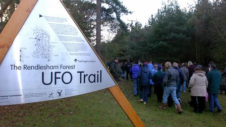 The UFO trail in Rendlesham Forest Picture: LUCY TAYLOR