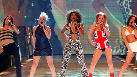The Spice Girls performing at the Brit Awards ceremony in 1997. Picture: FIONA HANSON/PA Wire
