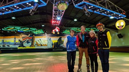 The Khan Family - Jason and Anne of Demon Xtreme Sports and their children. Picture: Kat Marketing