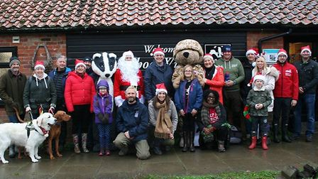 """The Colchester Help for Heroes Recovery Centre's """"Walking Home for Christmas"""" event around Fingringh"""