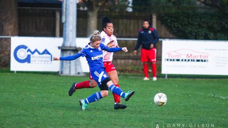 Sophie Welton had her goal disallowed for off-side Picture: AMY GILSON