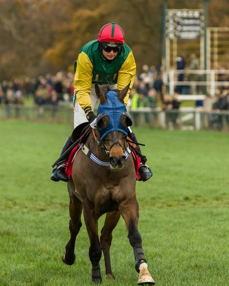 Gina Andrews and Sharp Suit win the Ladies Open Race at Cottenham for her 200th career winner. Pictu