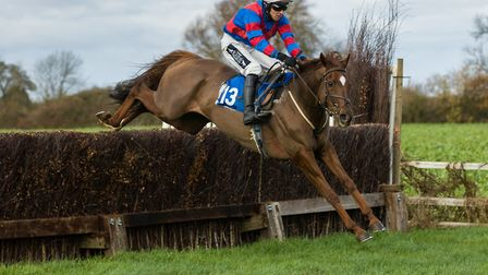 Alex Edwards and Now Ben on the way to a win in the Men's Open Race at Cottenham. Picture: GRAHAM BI