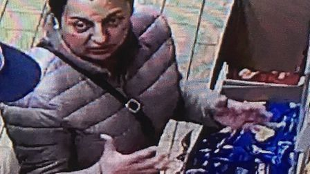 Police want to talk to this woman in connection with a crime committed in Sudbury Picture: SUFFOLK P