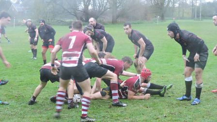 Hadleigh on the attack in their win over Colchester III. Picture: NEIL FARROW