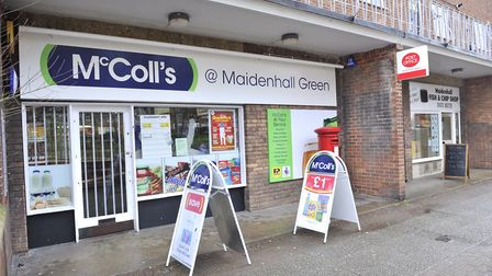 The McColls convenience store on Maidenhall Green