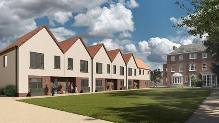 The two plans propose 135 new homes, a school, library and retail space in Needham Market Picture: M