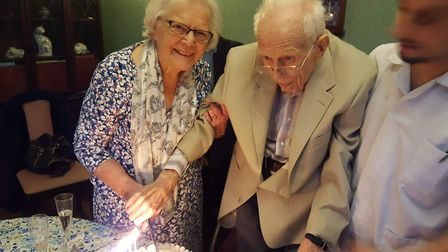 Jim and his wife Mary Froud celebrated 70 years of marriage at Haughgate House Nursing Home Picture