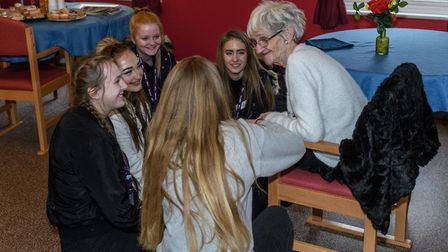 YOPEY Befrienders at the Mabbs Hall care home in Mildenhall. Picture CHRIS FELL