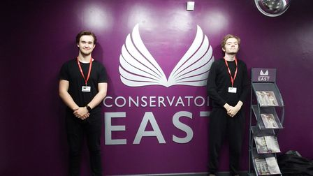 Caption: Students Dan Mckeown and Jake Jarvis at West Suffolk College who have changed their courses