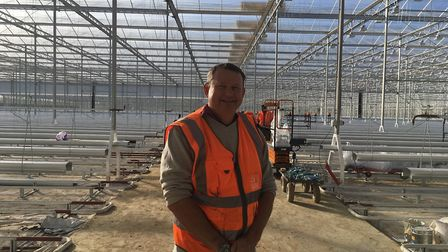 Richard Lewis at Sterling Suffolk's glasshouses at Great Blakenham Picture: SARAH CHAMBERS